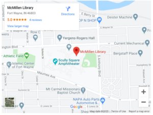 Google Map Image of Library's location